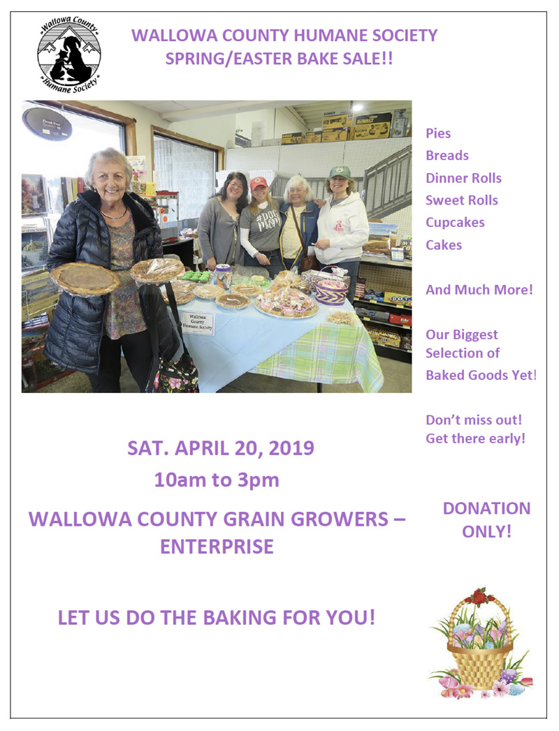 2019 Easter Bake Sale Flyer