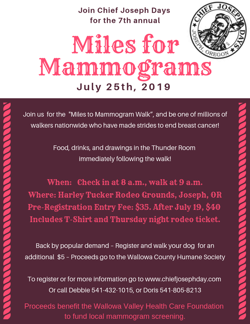 Join us for the 7th annual mammogram 2019